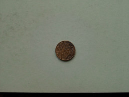1936 J - 5 Reichspfennig / KM 39 ( Uncleaned Coin / For Grade, Please See Photo ) !! - [ 4] 1933-1945 : Troisième Reich
