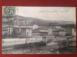 69 Rhone TARARE Boulevard Voltaire Et Gare CFB - Tarare