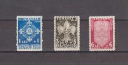 1936 JAMBOREE NATIONAL DE BRASOV  MI No 516/518  Et Yv No 505/507 MNH - 1918-1948 Ferdinand, Carol II. & Mihai I.