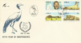 Ciskei 1986 Fifth Year Of Independence FDC - Ciskei