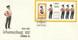 Ciskei 1986 Johannesburg 100 Mini Sheet FDC - Ciskei