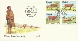 Ciskei 1987 Nkone Breed Of Cattle FDC - Ciskei