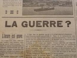 WW1 Les Premiers Jours De La Guerre 30 Juillet 1914 LA GUERRE ? / L´AFFAIRE CAILLAUX / CORSE / LE MORVAN RÉPUBLICAIN - Documents Historiques