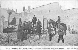 51 A L'EPINE Près De Chalons - Les Ruines Explorés Par Des Officiers Français - L'Epine