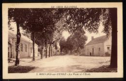18 CPA  - MOULINS Sur YEVRE - La Poste Et L' Ecole - Autres Communes