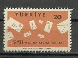 Turkey ; 1958 Letter Writing Year - 1921-... República