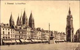 Cp Tournai Wallonien Hennegau, La Grand' Place, Marktplatz, Glockenturm - Belgium