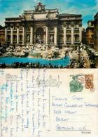 Trevi Fountains, Vatican City Postcard Posted 1985 Stamp - Vatican