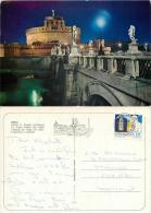 Castel S Angelo, Vatican City Postcard Posted 1984 Stamp - Vatican