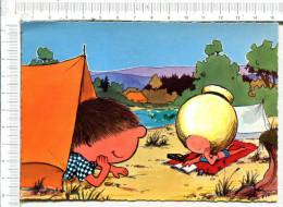 CHOUCHOU  Et   YEYE  En  CAMPING - Künstlerkarten