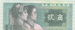 Billets -  B1224 -  Chine  - 2 Er Jiao  ( Type, Nature, Valeur, état... Voir 2 Scans) - China