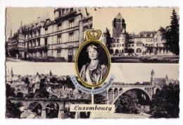 LUXEMBOURG S.A.R. LA GRANDE DUCHESSE CHARLOTTE VEDUTE F/P VIAGGIATA 1957 - Colmar – Berg