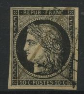 3  Ø   Premier Choix Cote 60 € - 1849-1850 Cérès