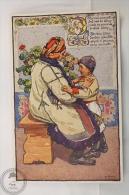Old Illustrated Postcard Slovakia - Antos Frolka, Slovacké Písne Serie II - Daj Ma, Maticko ( Mother And Child) - Eslovaquia