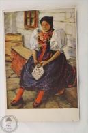 Old Illustrated Postcard Slovakia - V. Maly - Návrat Z Kostela/ On The Back Of The Church/ Traditional Slovakian Costume - Eslovaquia