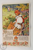 Old Illustrated Postcard Slovakia - Antos Frolka, Slovacké Písne Serie II - Vdla Sem Si Vedla - Eslovaquia