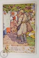 Old Illustrated Postcard Slovakia - Antos Frolka, Slovacké Písne Serie II - Handrlacka - Eslovaquia