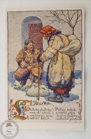 Old Illustrated Postcard Slovakia - Antos Frolka, Slovacké Písne Serie II - Chudoba/ Poverty - Eslovaquia
