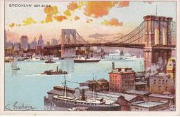 Mini Postcard: Brooklyn Bridge , New York City , 1890s ; - Ponti E Gallerie