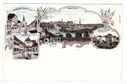 FÉNÉTRANGE (57) - GRUSS AUS FINSTINGEN - Stadthaus - Ansicht - Apotheke Kühn -Oblit. 1897 -Ed. Schmidt Buch., Finstingen - Fénétrange