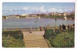 SOUTHPORT MARINE LAKE AND LOWER PROMENADE F/P VIAGGIATA 1961 (?) - Southport