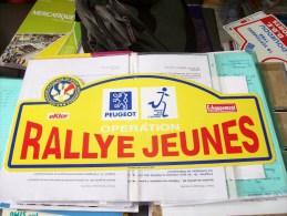 LOT PLAQUE RALLIES RALLYE JEUNE PEUGEOT ECHAPPEMENT EKTOR FFSA Coq Stylisé Rare - Plaques De Rallye