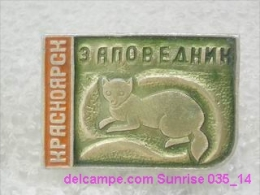 Animals: Fox - Krasnoyrsk National Park - Forest / Old Soviet Badge_035_an6616 - Animals