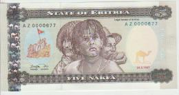 Eritrea  5 Nakfa 1997 Pick 2 Repl UNC - Eritrea