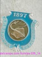 Animals: Skate - Cramp-fisth - Sevastopol The Crimea Aquarium / Old Soviet Badge_035_an6620 - Animaux