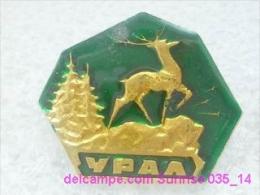 Animals: Deer - Ural National Park / Old Soviet Badge_035_an6617 - Animaux
