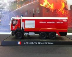 COLLEZIONE CARRI DEI POMPIERI - VIGILI DEL FUOCO DEL PRADO - 1/72 Pompieri Feuerwehrmann Renault 11000 CCI 2003 (France) - Scale 1:72