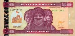 Eritrea  50 Nakfa 2004 Pick 7 UNC - Erythrée
