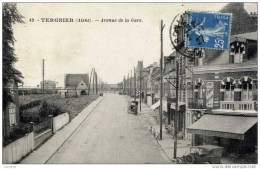 02-TERGNIER-Avenue De La Gare-animée,voitures - Frankreich