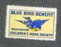 BLUE BIRD BENEFIT WASHINGTON CHILDREN'S HOME SOCIETY NEW - Varietà, Errori & Curiosità