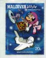 Maldives Disney Space Pizza Shuttle MNH **  UFO ALIEN SPACE EXPLORATION - Disney