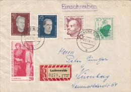 STAMPS ON REGISTERED COVER, NICE FRANKING, SHIP, 1960, GERMANY - [6] Oost-Duitsland