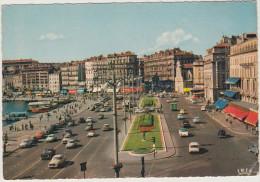Marseille:  CITROËN DS, 2CV BACHÉE, PEUGEOT 403, SIMCA ARONDE, OPEL REKORD P2, PANHARD DYNA - Quai Des Belges - France - Passenger Cars