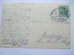 GERMANY 1909 POSTCARD FROM SWINEMUNDE TO MISDROY POLAND WITH STETTIN-SWINEMUNDE BAHNPOST MARK - Deutschland