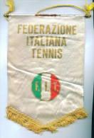 W148 / AUTOGRAPH - SPORT Federazione Italiana Tennis - 15.5 X 23 Cm Wimpel Fanion Flag Italia Italy Italie Italien - Handtekening