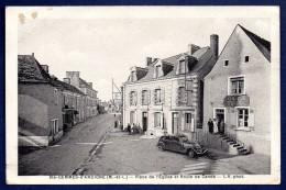 49. Sainte -Gemmes D´Andigné. Place De L´Eglise Et Route De Candé. Café-Tabac. Pub Byrrh - France