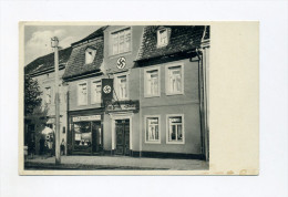 1934 3. Reich Propagandakarte Paul Berck Haus Eisleben NS Ortsgruppenheim  Echt Gelaufen - Deutschland