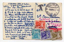 1954 - RARE CP De MOSTAR (BOSNIE HERZEGOVINE) NON AFFRANCHIE Pour La FRANCE -> TAXEE