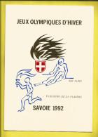 JEUX OLYMPIQUES  D'Hiver SAVOIE 1992. Parcours De LA FLAMME . Très Joli Document Sur Les XVIème Jeux Voir Scanners - Abarten Und Kuriositäten