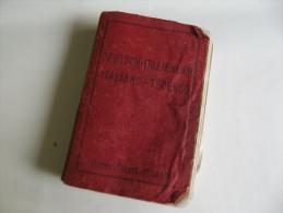 Lib237 Vocabolario Tascabile Deutsch Italienisch, Fratelli Treves Milano, Anni 30, Libro Antico, Old Vintage - Dictionnaires