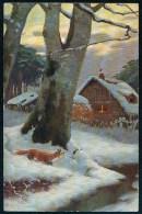 Marke 'Egemes' Serie 73 - Fox, Winter ------ Postcard Not Traveled - Peintures & Tableaux