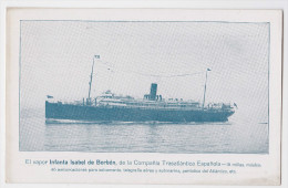 Vapor Infanta Isabel De Borbon De La Compañia Transatlantica Española - Propaganda Postal Maritima Patriotica Barcelona - Barcelona