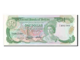 [#350035] Belize, 1 Dollar Type Act 1982-83, Pick 43 - Belize