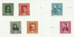 Liechtenstein N°232, 233, 235, 237, 238, 240 Côte 16.50 Euros - Liechtenstein
