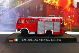 COLLEZIONE CARRI DEI POMPIERI - VIGILI DEL FUOCO DEL PRADO - GERMANIA - ITALIA  2000 EURO FIRE LF16 IVECO 140 - 12  1:72 - Scale 1:72
