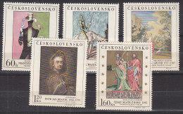 L3428 - TCHECOSLOVAQUIE Yv N°1601/05 ** TABLEAUX - Unused Stamps